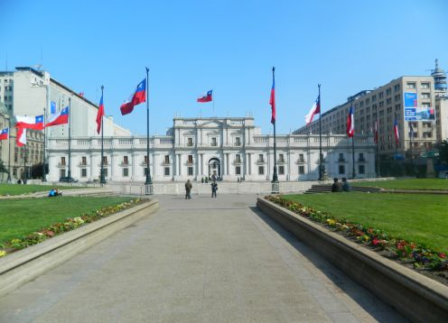 Palacio de la Moneda, em Santiago do Chile